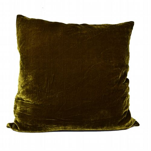 Silk Velvet & Linen Cushion - Golden Serge